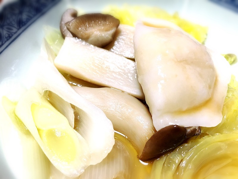 道場六三郎, 水餃子, 取り分け皿